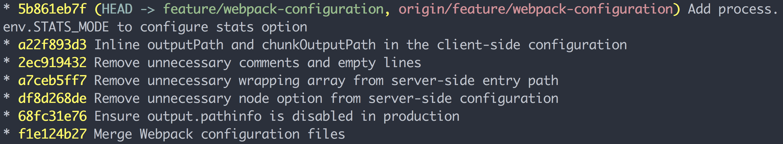 Example output of my  alias